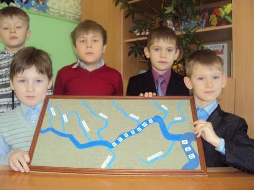 Схема реки Клязьма.  Дата: 01.09.2013 Добавил: Александровна.